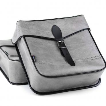 Grey webbing bags for VéloSolex • Solex Me