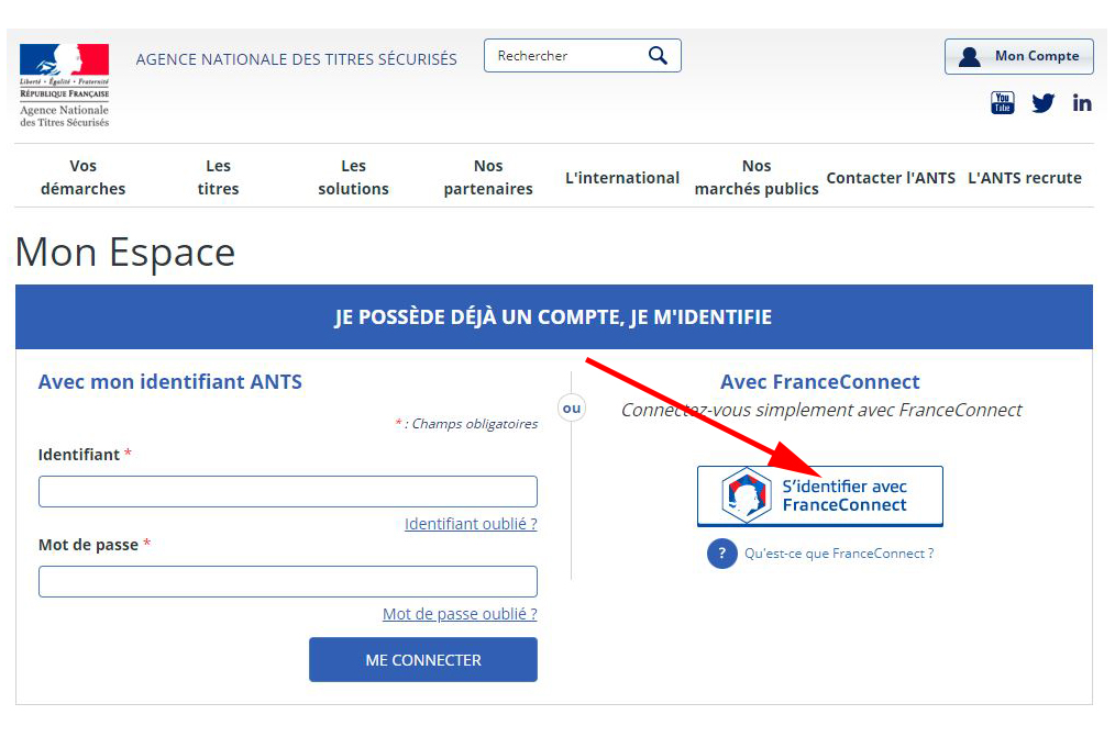 FranceConnect - Register a Solex - Solex Me